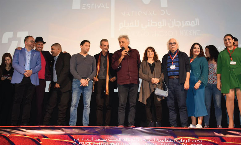 Hassan Benjelloun et l'équipe du film «Pour la cause». Ph. kartouch