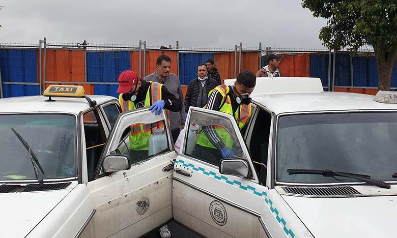 L'UGEP désinfecte les véhicules du transport en commun