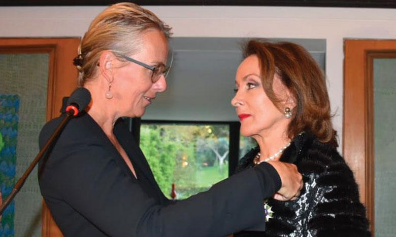 Le Docteur Leila Mezian Benjelloun faite officier  de la Légion d'honneur