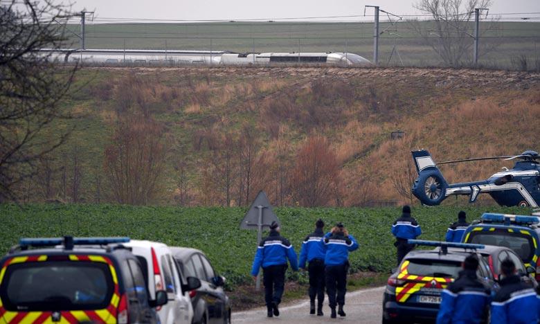 L'accident aurait été causé par un affaissement de talus très important dans le secteur de Saverne. Ph :  AFP