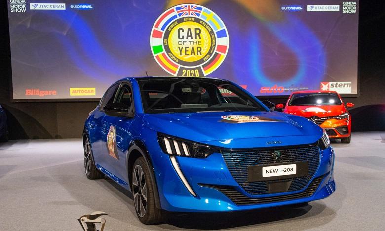 Un mois seulement après le Prix de Voiture de l'Année au Maroc, la nouvelle Peugeot 208 vient d'être élue Car Of The Year 2020 à Genève. Ph. DR