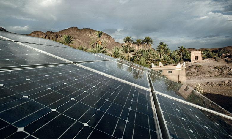 Quelque 30.000 exploitations agricoles au Maroc sont actuellement équipées en panneaux photovoltaïques, soit 8,8% des exploitations irriguées. Ph. DR