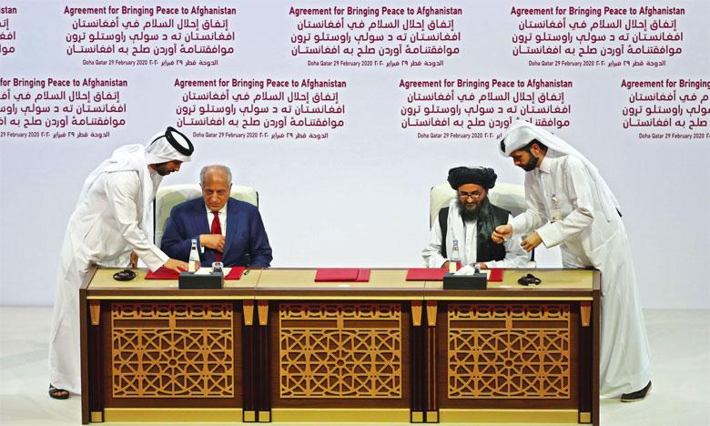 Le 29 février, les États-Unis et les Talibans ont signé, à Doha, un accord de paix en quatre points.