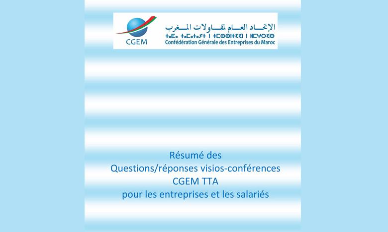 La CGEM explique les nouvelles modalités  aux entreprises par visioconférence