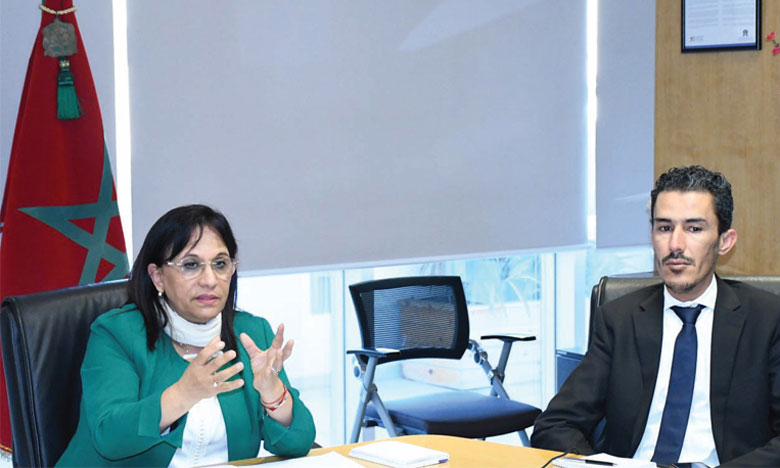 Amina Bouayach et Mounir Bensaleh, respectivement présidente et SG du CNDH. Ph. saouri