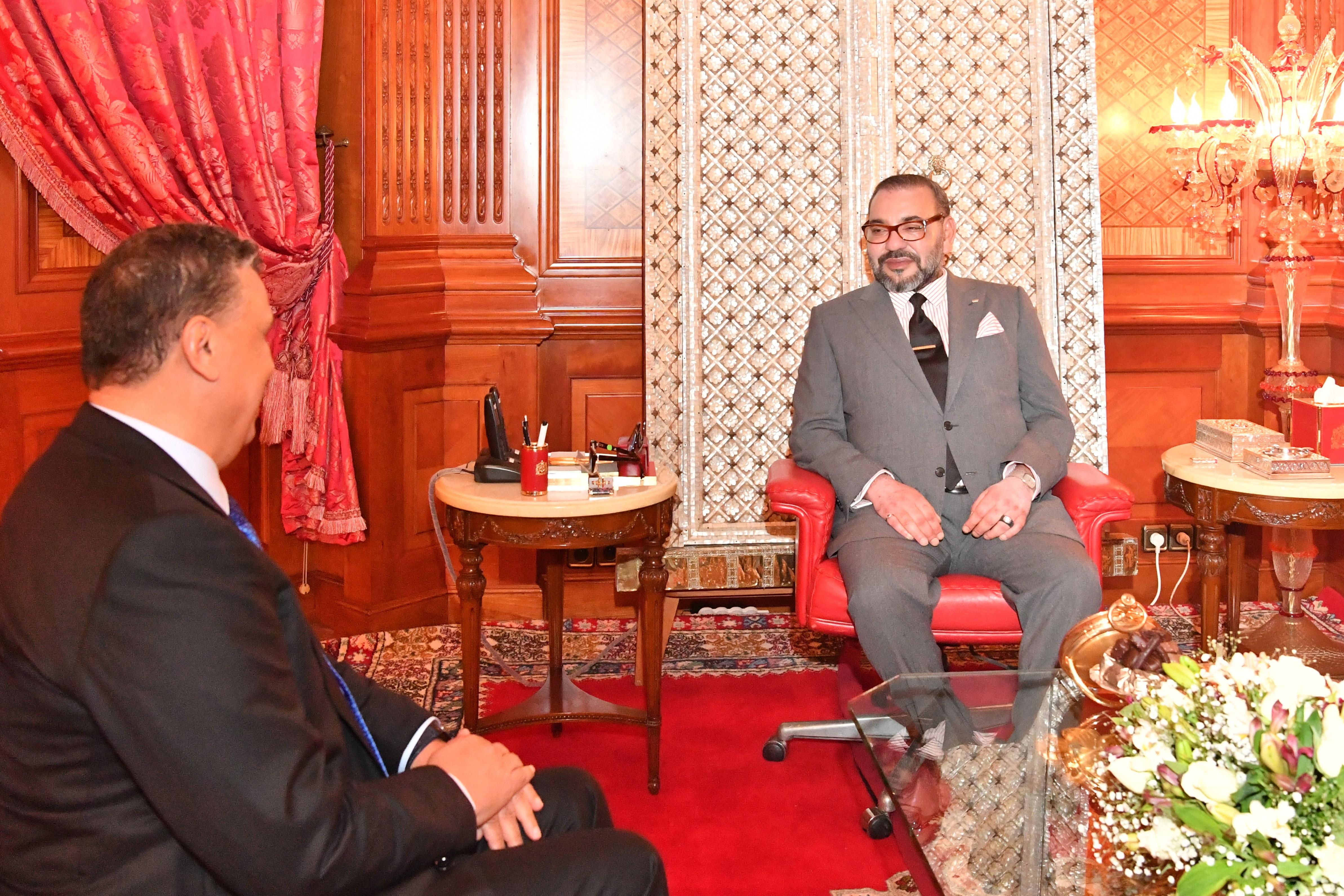 Sa Majesté le Roi Mohammed VI reçoit au Palais Royal de Casablanca M. Abdellatif Ouahbi à sa demande