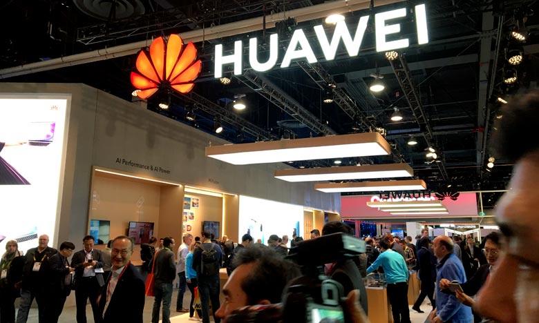 En mai 2019, les États-Unis ont placé le géant chinois des télécoms Huawei sur une liste noire, accusant le groupe de travailler avec les autorités chinoises. Ph : AFP