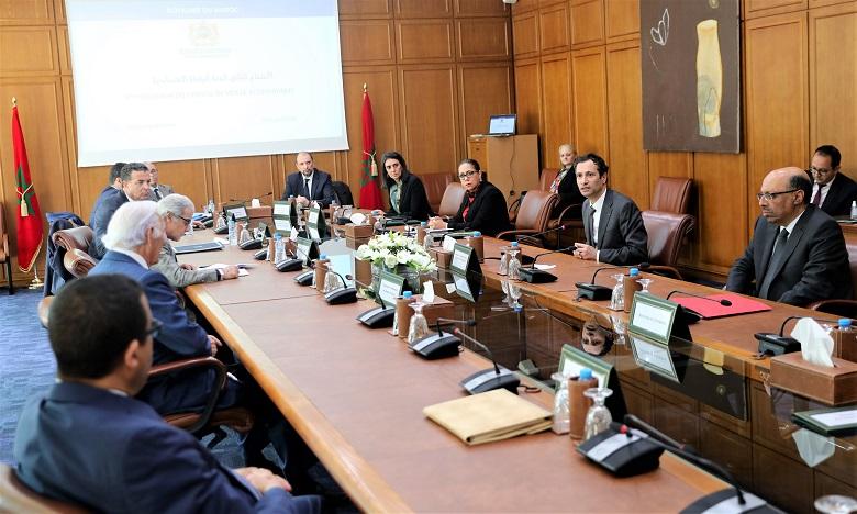 Le Comité de Veille Economique a tenu sa 2e réunion au siège du ministère de l'Economie, des Finances et de la Réforme de l'Administration. Ph. MAP