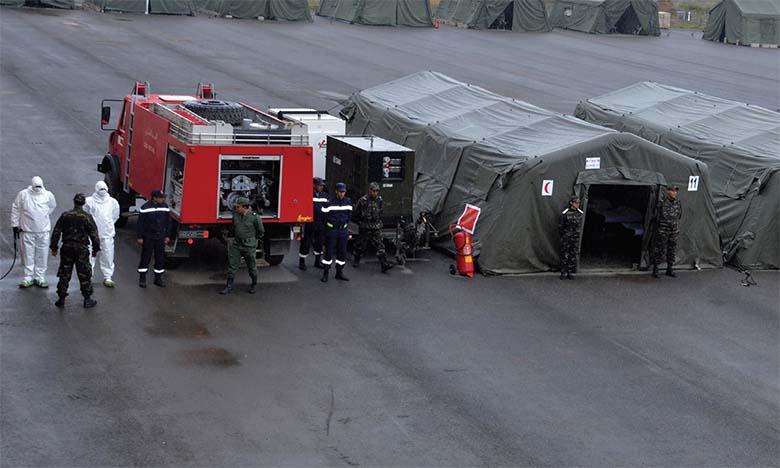 Covid-19 : L'hôpital de campagne de Benslimane  prêt à entrer en action à tout moment