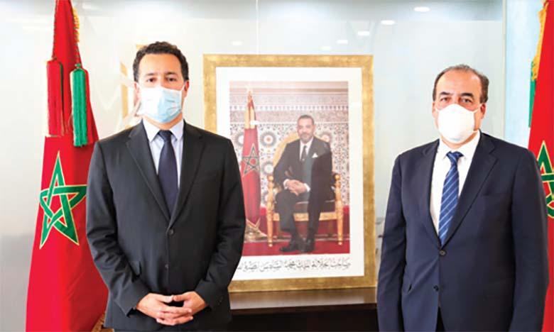 Passation des pouvoirs entre MM. Othman El Firdaouss  et El Hassan Abyaba