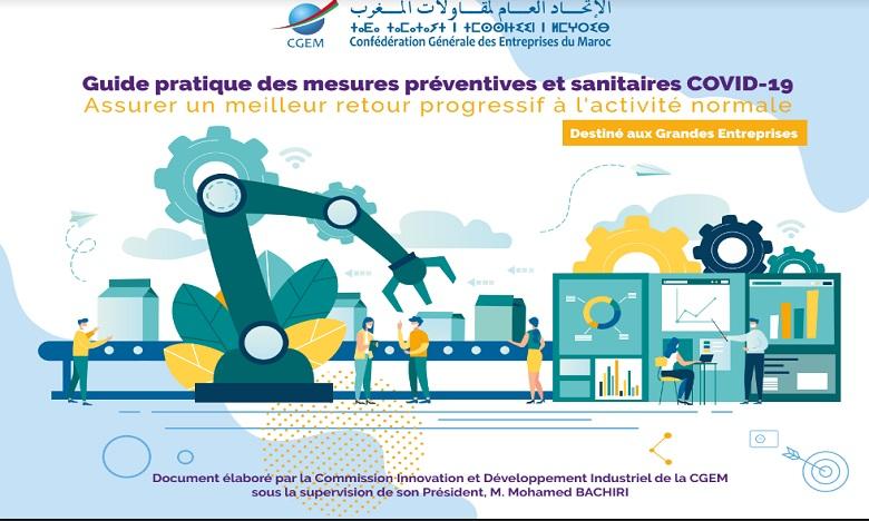Reprise de l'activité économique : La CGEM met en place des guides préventifs et sanitaires