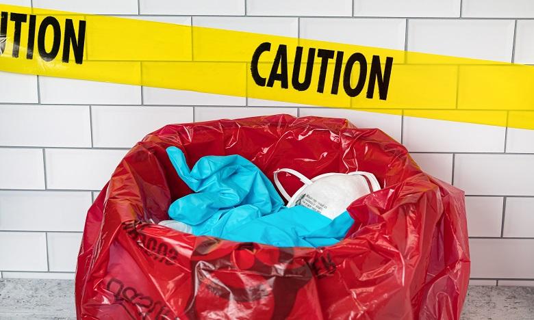 Mise en place d'une procédure pour la gestion des déchets médicaux liés au coronavirus