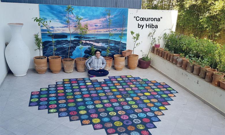 Installation «Cœurona» de Hiba Khamlichi.