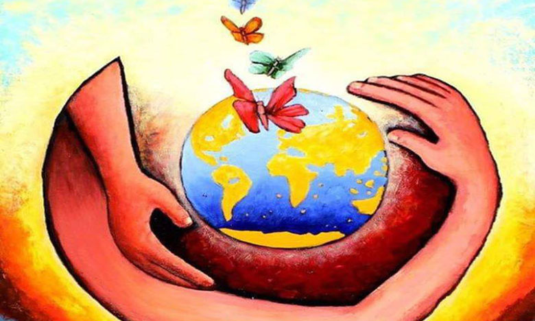 Œuvre sur la protection de la terre.