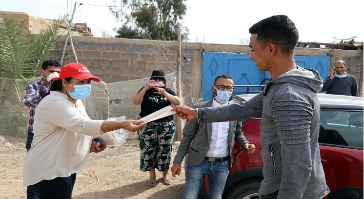Des masques distribués gratuitement au profit des habitants des communes rurales de Marrakech