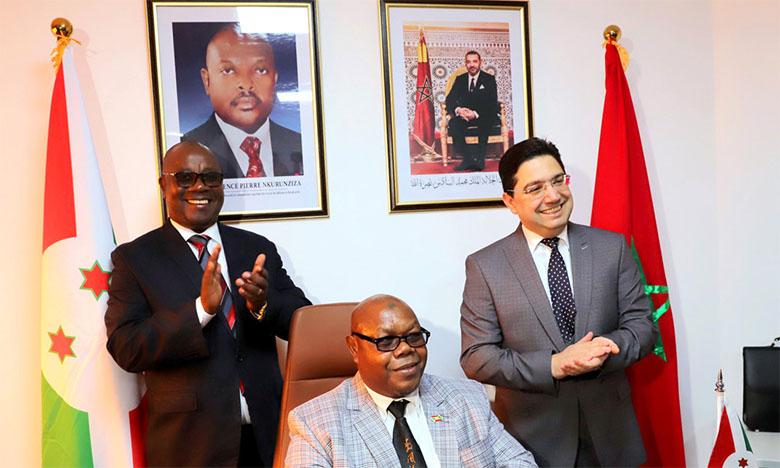 Inauguration d'un consulat général de la République du Burundi à Laâyoune, le 28 février 2020.