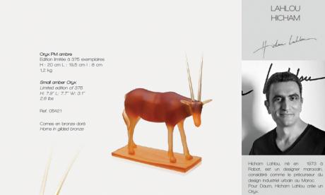 """Le designer marocain Hicham Lahlou rejoint le catalogue """"Edition d'Art"""" de Daum"""