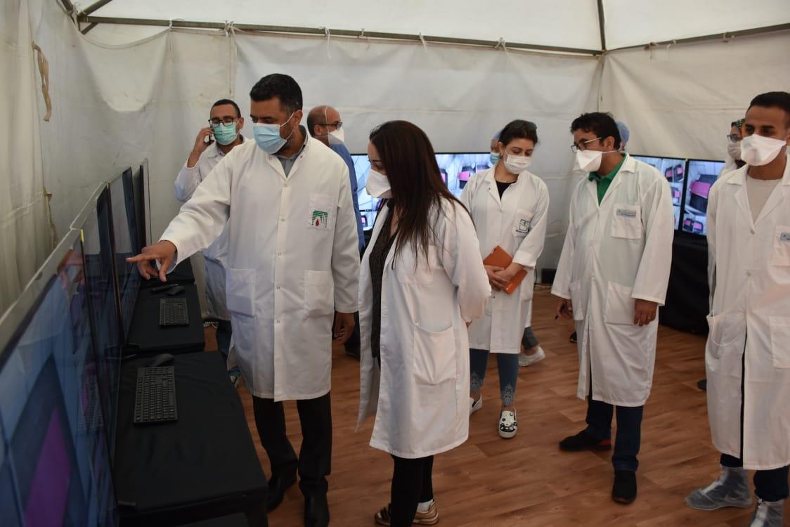 Casablanca : L'hôpital de campagne provisoire à l'OFEC ouvre ses portes