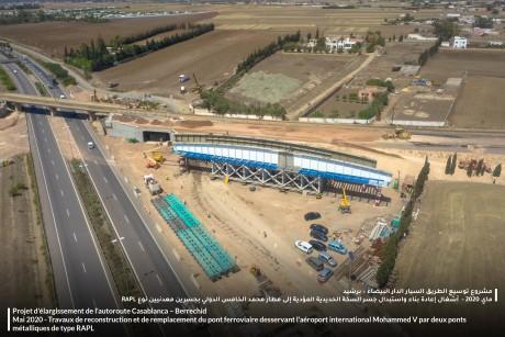 ADM: Suspension du trafic samedi entre les échangeurs de Sidi Maarouf et de l'aéroport Mohammed V