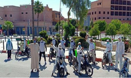 Lutte anti-Covid-19: Une campagne de de désinfection et de stérilisation des espaces publics menée à Benguérir