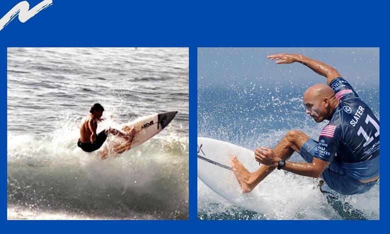 13 juin 2020, Youssef Zerrad reçoit en direct la légende du surf, Kelly Slater.