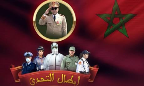 Opérette des champions du défi en solidarité avec les soldats des premiers rangs