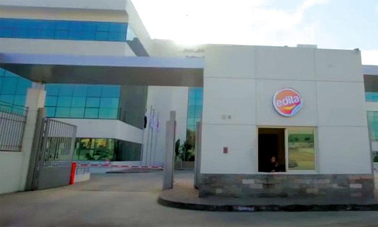 La future usine d'Edita Food au Maroc comprend deux lignes de production.