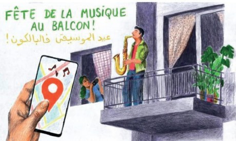 Célébration de la Fête  de la musique au balcon