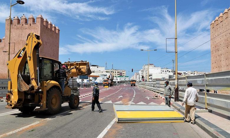 La circulation entre les deux stations sera suspendue en raison des travaux de construction de la trémie de Bab Lhad. Ph. MAP