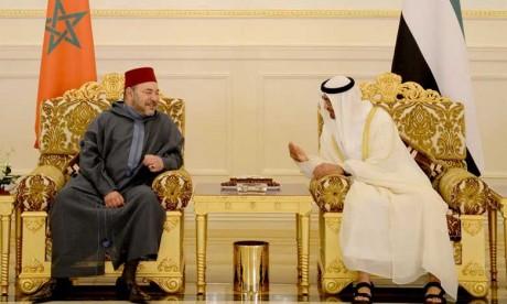 S.A. Cheikh Mohamed Ben Zayed Al Nahyane, Prince Héritier d'Abou Dhabi, souhaite à S.M. le Roi Mohammed VI un prompt rétablissement et Lui présente ses voeux de bonne santé