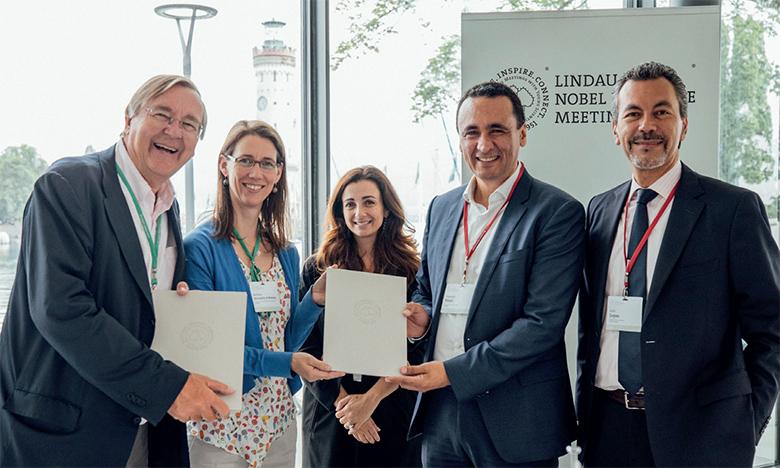 Le réseau Honoris et Lindau Nobel Laureate Meetings avaient scellé, en juillet 2019, un partenariat visant  à développer la recherche en sciences naturelles et économiques en Afrique.                                        Ph. DR