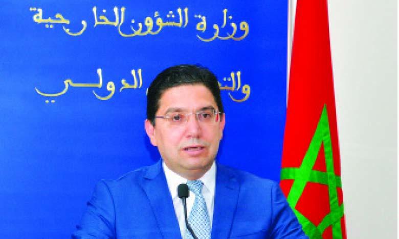 Nasser Bourita : Conformément à la Haute Vision  de S.M. le Roi, le Maroc défend un multilatéralisme «solidaire»
