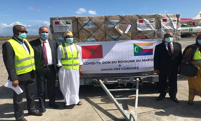 Covid-19: Arrivée à Moroni de l'aide médicale marocaine destinée aux Comores