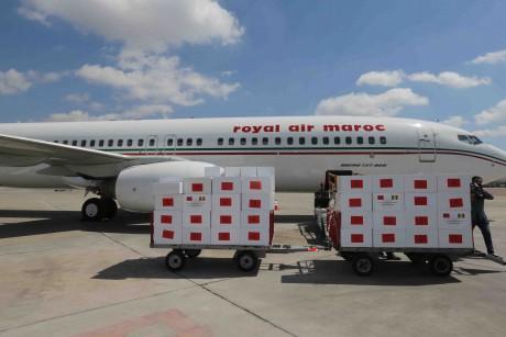Arrivée à Abidjan de l'aide médicale marocaine destinée à la Côte d'Ivoire