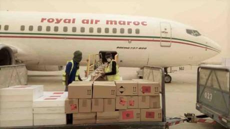 Arrivée à Nouakchott des aides médicales marocaines acheminées en Mauritanie sur Très Hautes Instructions Royales