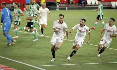 Séville remporte le derby lors du match marquant le grand retour  du football en Espagne