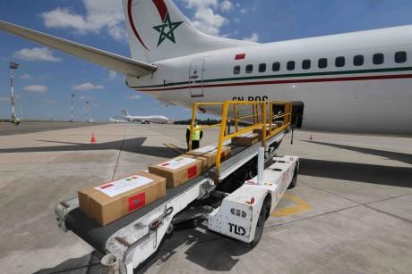 L'aide médicale marocaine destinée à la RDC réceptionnée à Kinshasa
