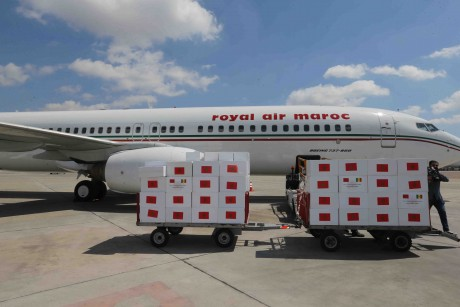Arrivée à Lusaka de l'aide médicale marocaine destinée à la Zambie