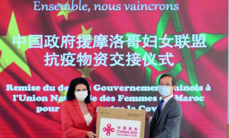 Le gouvernement chinois remet un don à l'Union nationale   des femmes du Maroc