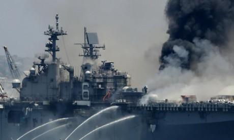 Incendie dans une base navale en Californie, au moins 21 blessés