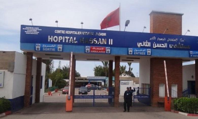 Les victimes de l'intoxication alimentaire ont été prises en charge par un staff médical et infirmier spécialisé au niveau de l'hôpital régional Hassan II d'Agadir. Ph : DR