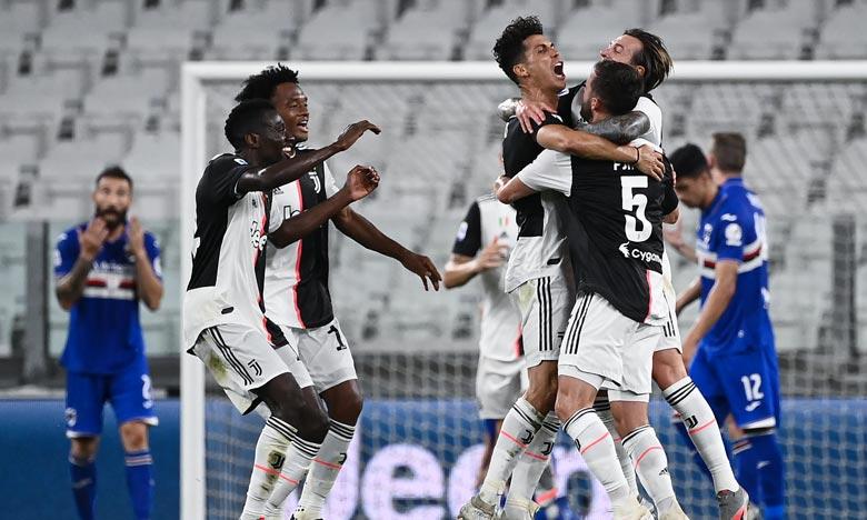 La Juventus a décroché le titre de champion d'Italie grâce à sa victoire contre la Sampdoria Gènes à Turin. Ph : AFP