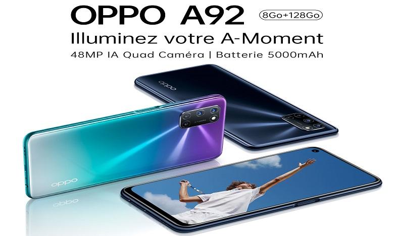 OPPO A92 : le smartphone le plus puissant en matière de divertissement mobile arrive au Maroc