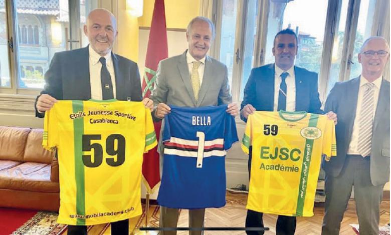 L'accord de partenariat a été signé, mardi à Rome, en présence des représentants des deux clubs et de son excellence l'ambassadeur du Royaume en Italie.