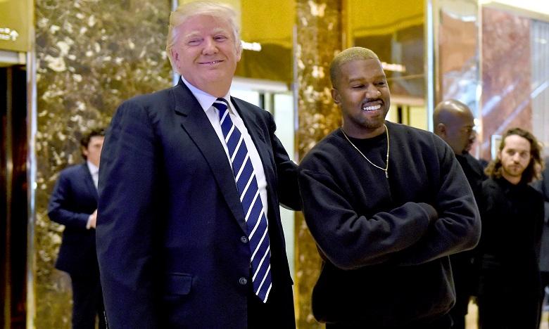 Kanye West avait rencontré le président américain Donald Trump en tête à tête dans le Bureau Ovale en 2018. Ph. AFP