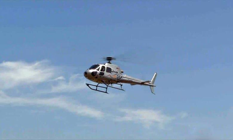 L'hélicoptère s'est écrasé peu après son décollage dans la banlieue de Broome à Bilingurr, dans la région de Kimberley. Ph : DR