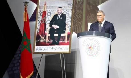 20 décembre 2019 : M.Abdelouafi Laftit donnant lecture du message Royal adressé aux participants aux assises de la régionalisation avancée.