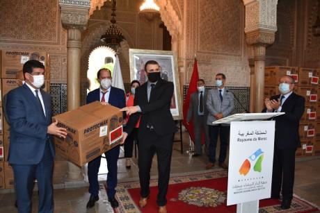 Conseil de la Région de Casablanca-Settat : Distribution de visières au profit des candidats au Bac
