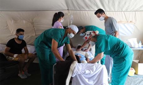 L'Hôpital militaire marocain à Beyrouth : quelque 88 opérations chirurgicales effectuées en deux semaines