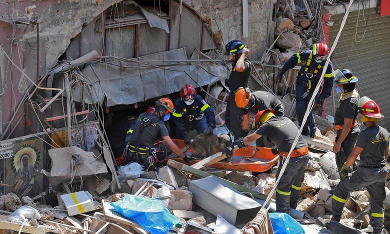 Selon le ministère de la santé, sur les 5 000 personnes blessées par l'explosion, au moins 120 sont toujours dans un état critique. Ph  : AFP